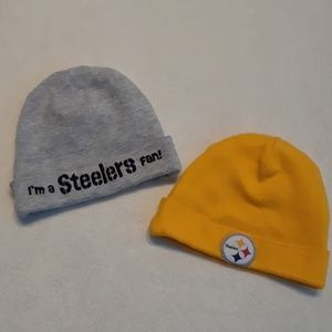 Other - NFL team apparel Steelers baby caps